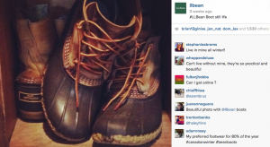 L.L. Bean effectively uses native advertising on Instagram.